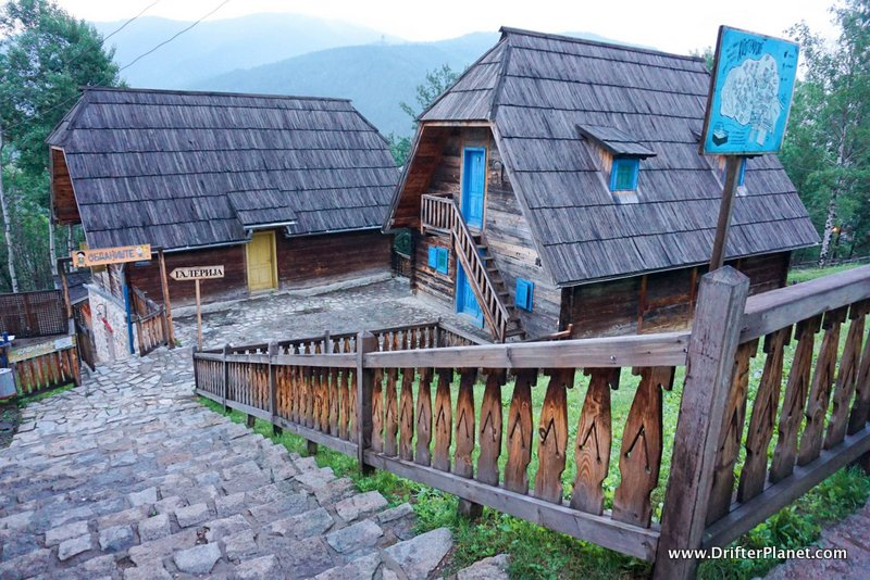 Inside Drvengrad, Mokra Gora, Serbia