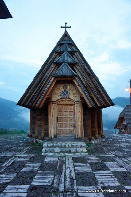 The church inside Drvengrad, Mokra Gora, Serbia