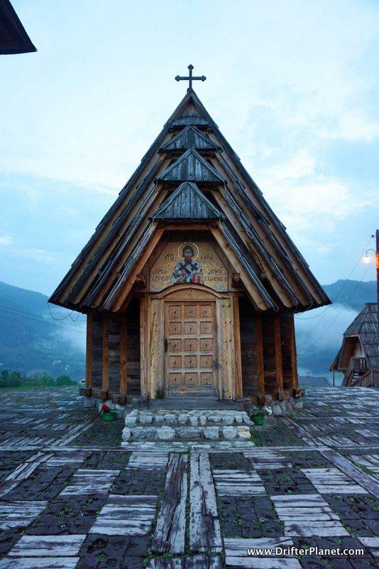 The church inside Drvengrad, Mokra Gora, Serbia