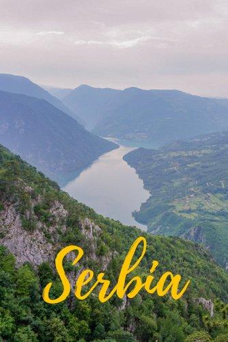 Drina River in Tara National Park near Mokra Gora in Serbia