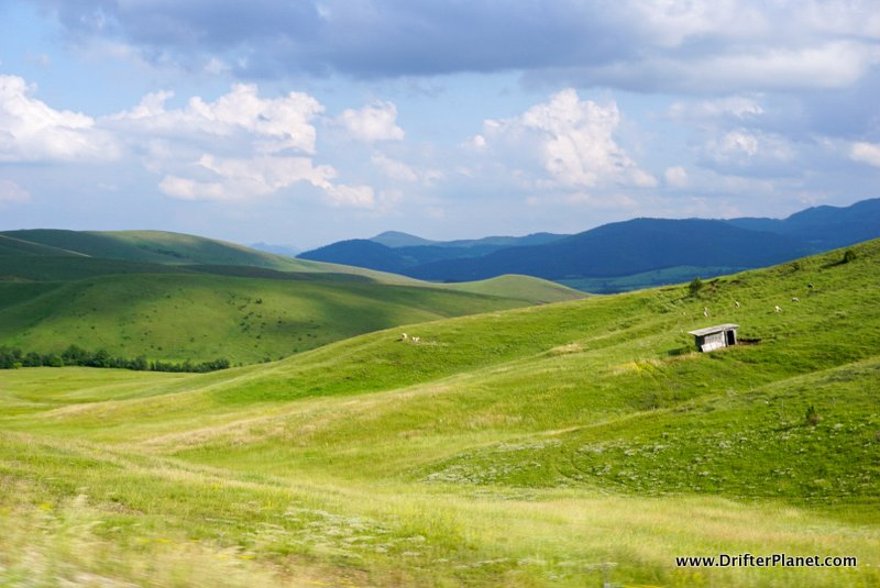Zlatibor's green hills and empty spaces, Serbia