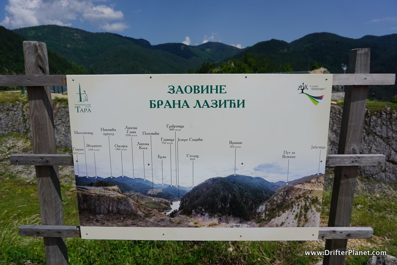 Most of the signboards are in Cyrillic in Tara National Park in Serbia