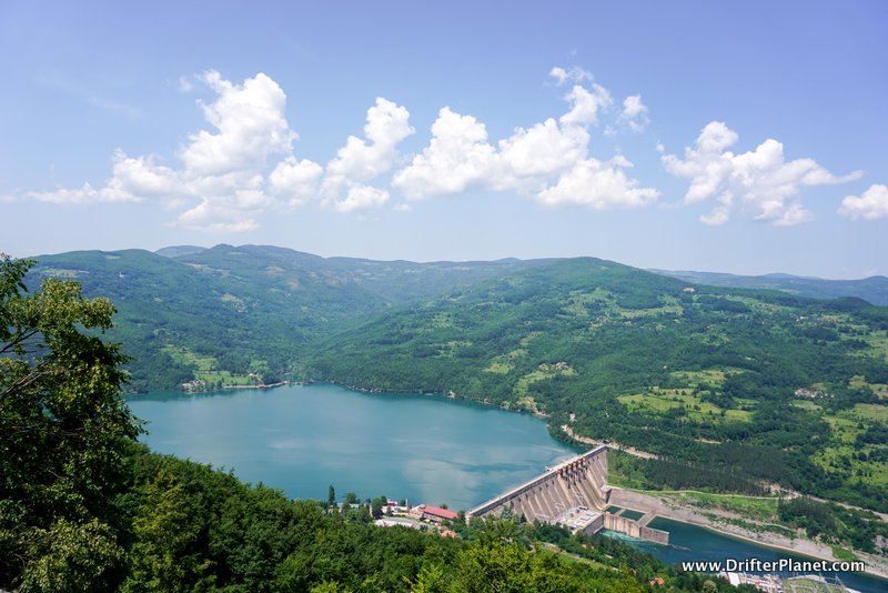Perućac lake and Dam in Tara National Park, Serbia