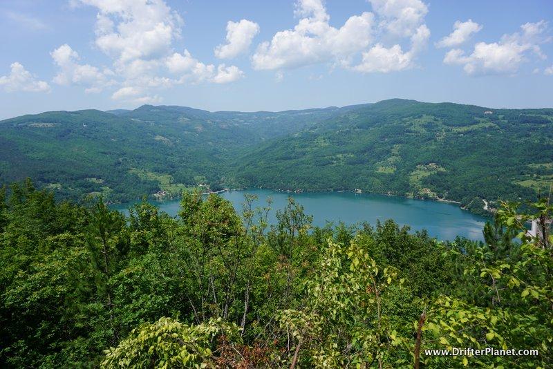 Perucac lake in Tara National Park, Serbia