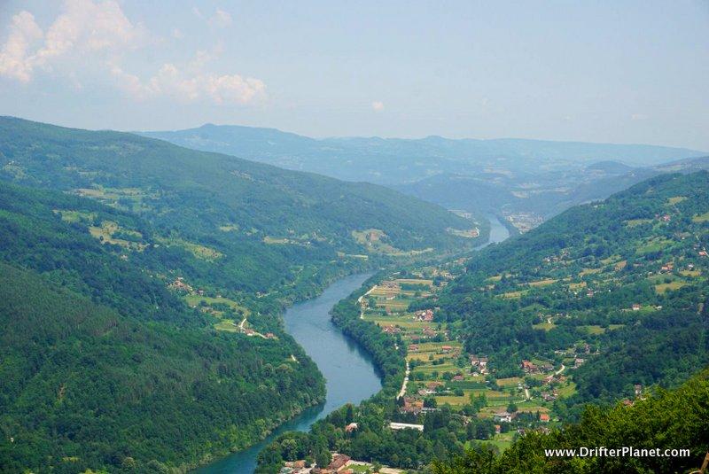 River Drina viewpoint in Tara National Park near Mokra Gora, Serbia