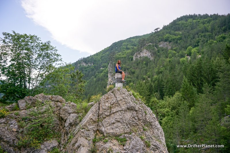San on top of a cliff in Tara National Park, Serbia