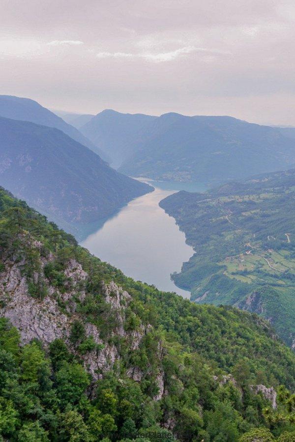 Drina River from Banjska Stena viewpoint, Tara National Park, Serbia