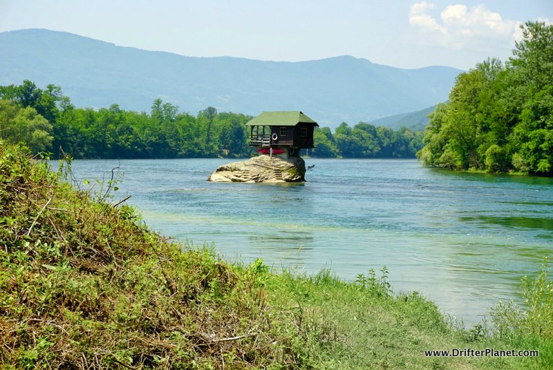 Tara National Park's Lonely House on River Drina near Bajina Basta, Serbia