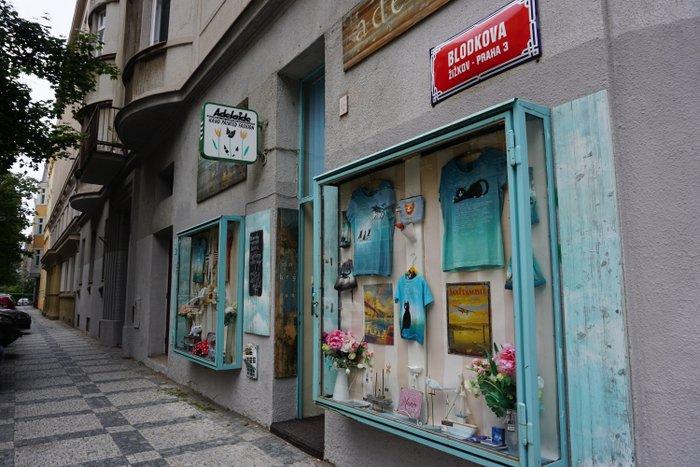 A shop in Blodkova (Žižkov), Prague