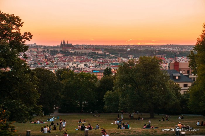 Amazing Viewpoint in Riegrovy Sady, Prague