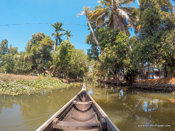 Canoe Ride in Alleppey, Kerala.