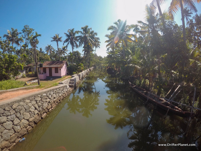 Inside one of the villages in Kuttanand - Alleppey backwaters area