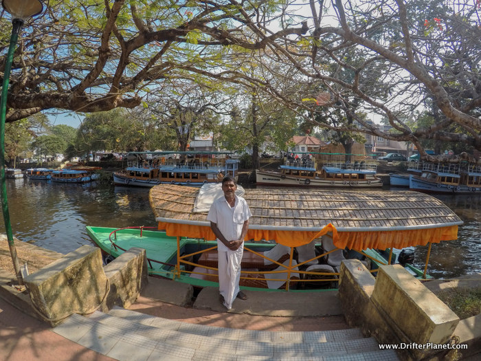 One of the many shikara boats in alleppey town.