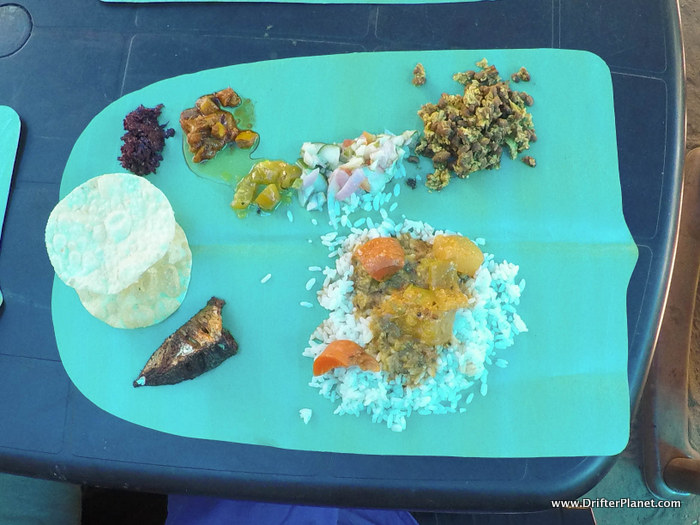 Our lunch with locals in one of the canal side villages in Alleppey's backwaters area
