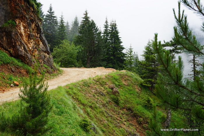 Driving in Durmitor National Park, Montenegro