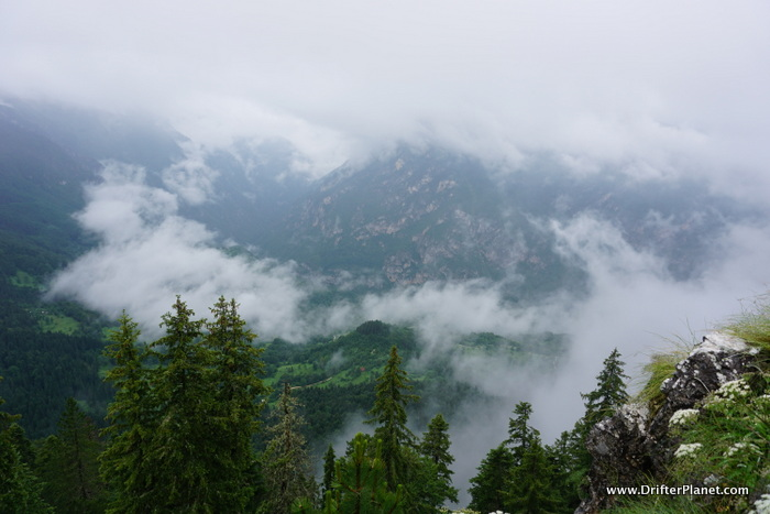 One of the viewpoints in Durmitor - we hiked but the clouds obstructed the view