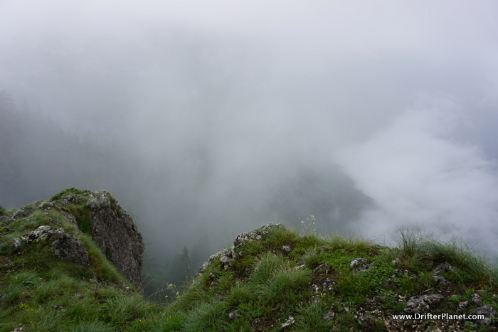 This was supposed to be a good viewpoint but zero visibility - Durmitor National Park