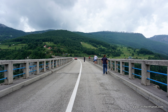 Walking on Tara Bridge, Montenegro