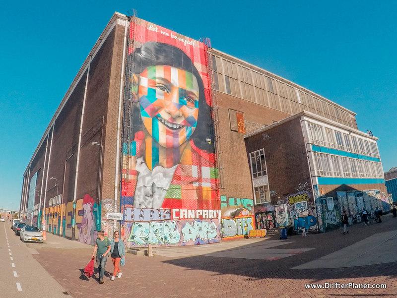 A Massive Mural in NDSM Werf Amsterdam