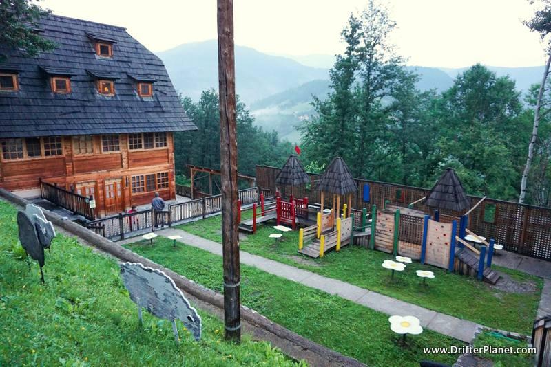 A playground in Drvengrad, Mokra Gora, Serbia