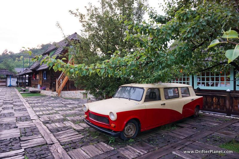 A vintage car in Drvengrad, Mokra Gora, Serbia