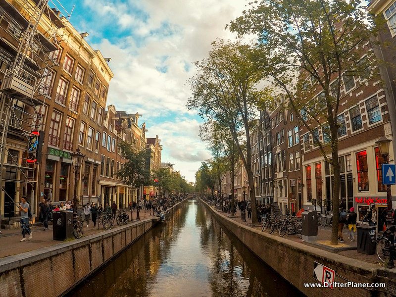 Amsterdam's Red light district during the day