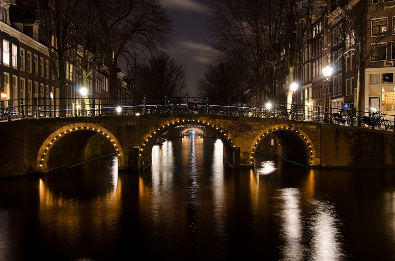 Amsterdam's illuminated bridges at night - Night Canal Cruise in Amsterdam itinerary