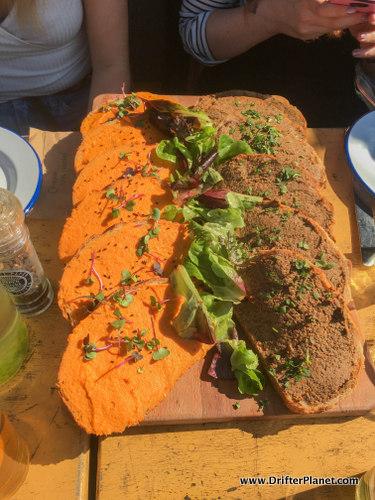 Bread in De Ceuvel Cafe in Amsterdam-Noord