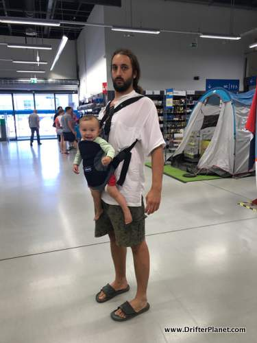 Baby carrier is a must have while traveling