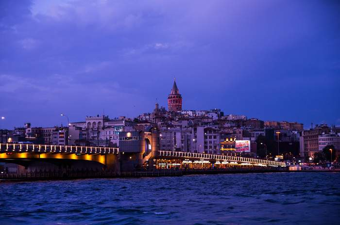Istanbul, Turkey with Galata Tower in the Background