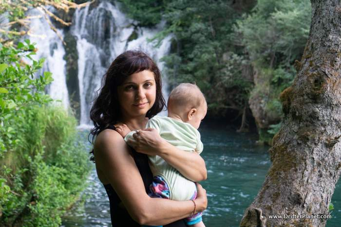 Me and the Baby in Bosnia