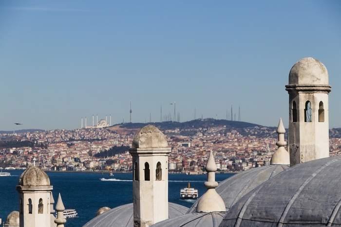 Süleymaniye Mosque in Istanbul - view
