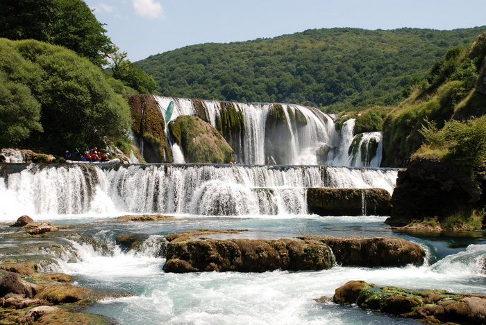 Štrbački buk waterfall in Una National Park, Bosnia-Herzegovina