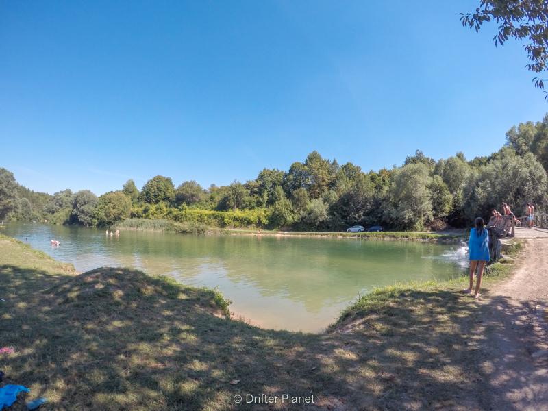 Camp Korana Swimming Spot by Korana River - camping place near Plitvice Lakes Croatia