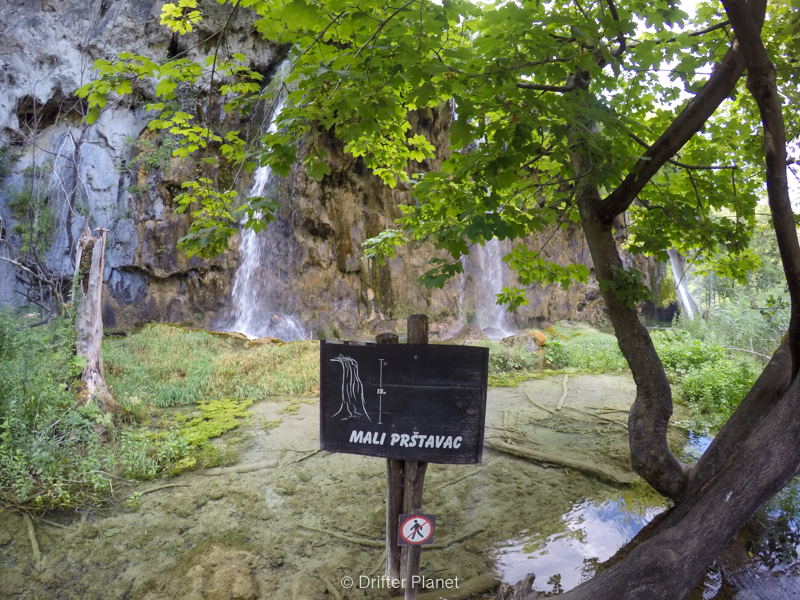 Mali Prštavac Slap in Plitvice Lakes National Park in Croatia