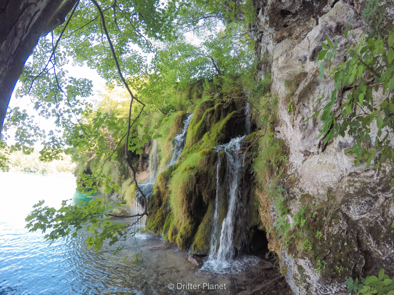 One of the many waterfalls near the upper lakes in Plitvice Lakes National Park