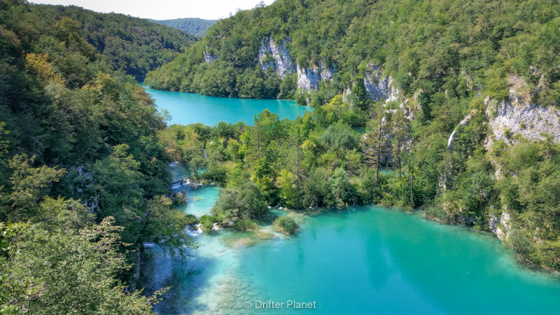 One of the viewpoints above the Big Waterfall - Plitvice Lakes, Croatia