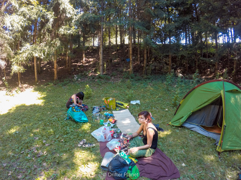 Our camping place in Camp Korana near Plitvice Lakes Croatia