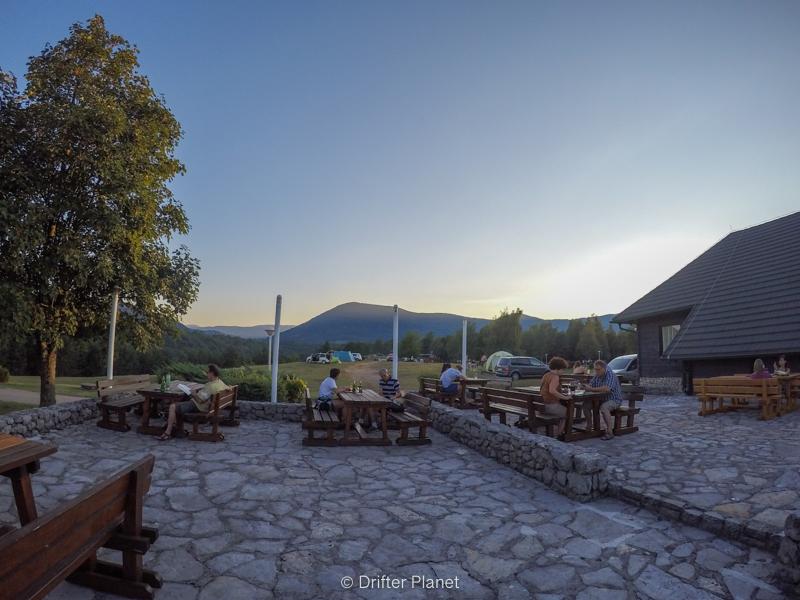 Outdoor restaurant in Camp Korana near Plitvice Lakes Croatia