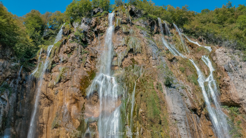 Veliki Prštavac Waterfall n Plitvice Lakes National Park, Croatia