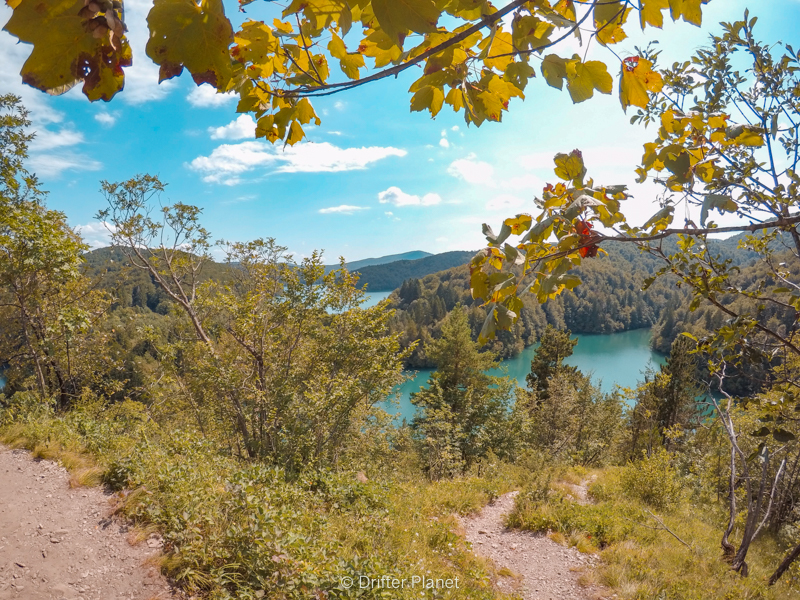 View from Stupica Elevation on trail K - Plitvice Lakes Croatia