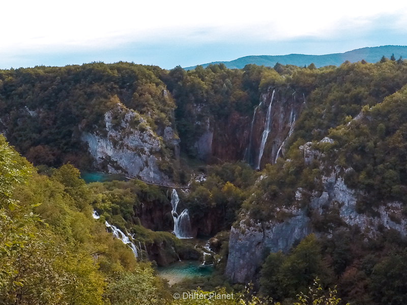 Viewpoint Near the Big Waterfall - Veliki Slap in Plitvice Lakes National Park Croatia