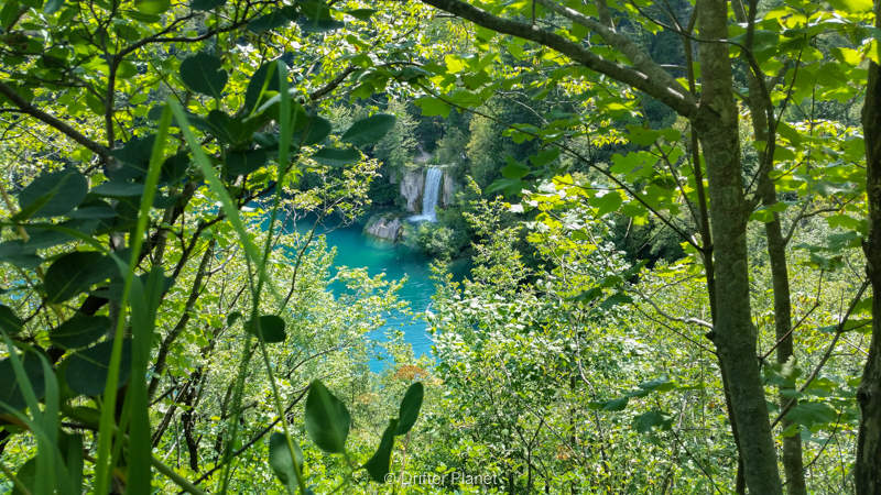Waterfall view inside Plitvice Lakes National Park, Croatia