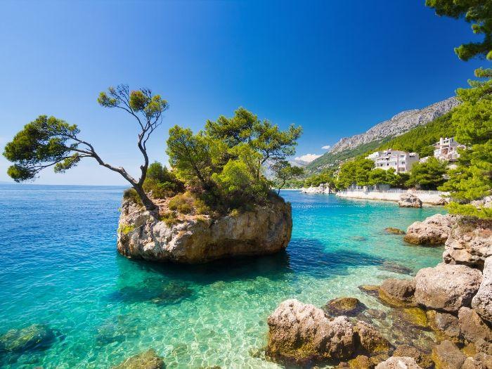 Brela Stone - the iconic sight of Brela - Croatia Road Trip Itinerary