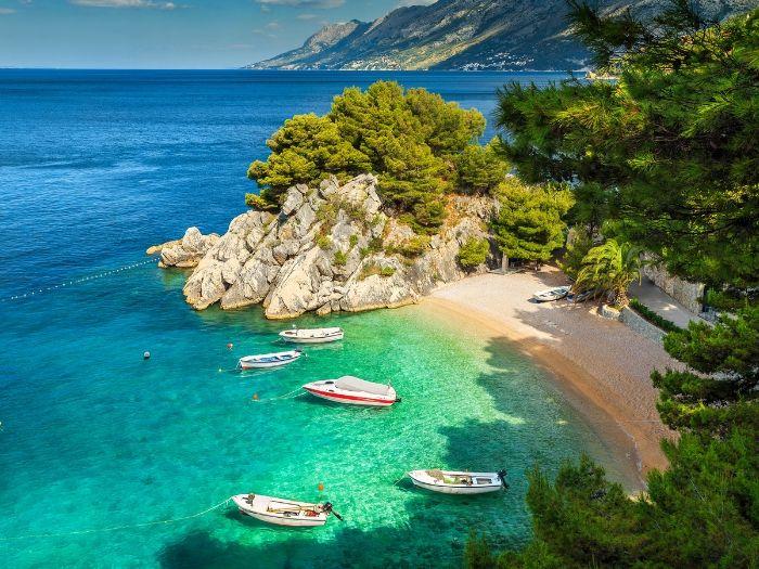 Brela has nice beaches - Croatia Road Trip Itinerary