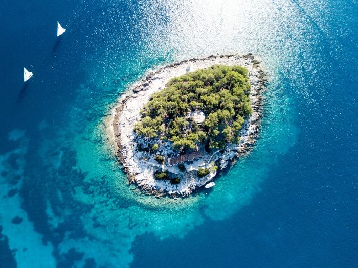 Hvar Island from up above - Croatia Itinerary