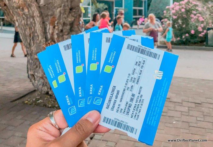 KRKA National Park Entrance Tickets - Croatia road trip itinerary