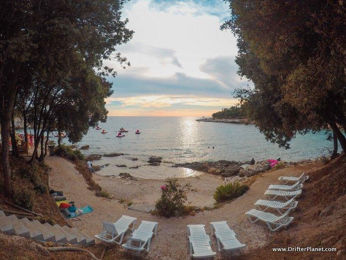Pula beach sunset - Croatia Road Trip itinerary