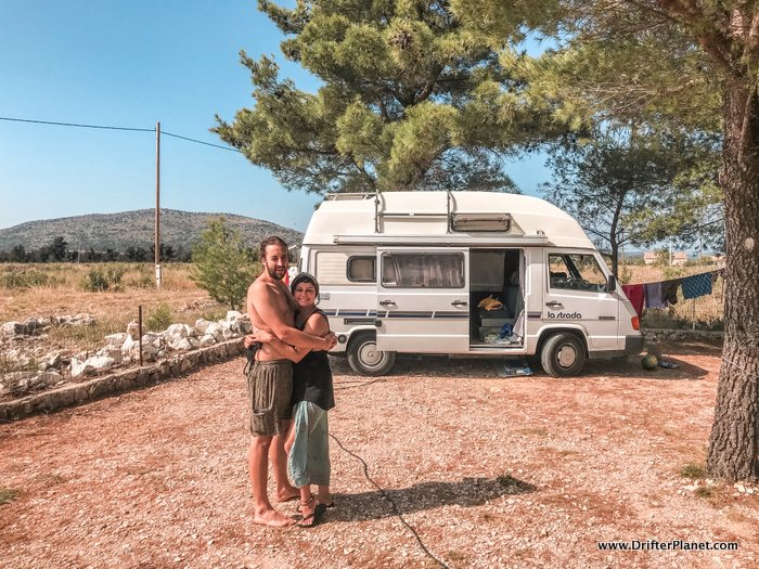 San and I in Camp Marina near Krka National Park - Croatia Road Trip itinerary