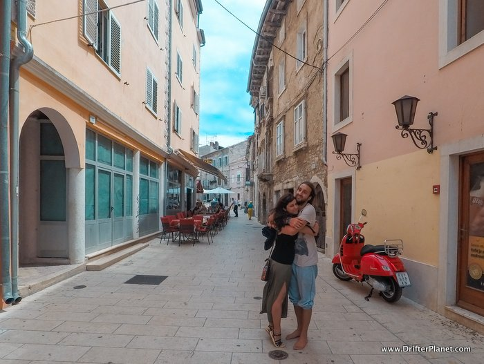 San and I on the streets of Pula, Croatia Itinerary